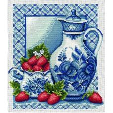 Borduurpakket Strawberries and cream
