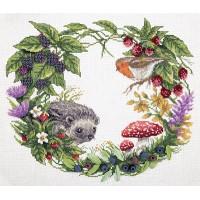 Borduurpakket Summer wreath