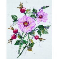 Borduurpakket Wild rose in may
