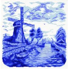 Borduurpakket Windmill and Bridge
