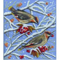 Borduurpakket Winter birds