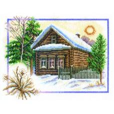 Borduurpakket Winter house
