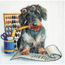 Borduurpakket Writing dog