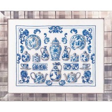 Borduurpakket China Blue