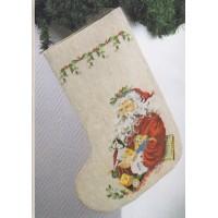 Borduurpakket Kerstsok Santa Claus
