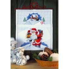 Borduurpakket Kerstman Postzak