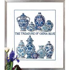 Borduurpakket The treasure of China Blue