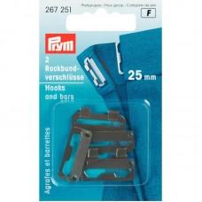 Broeksluiting 25mm Zwart