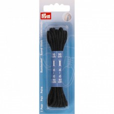 Schoenveters dun rond 90 cm Zwart