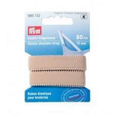 Schouderband elastisch 15mm Huidskleur
