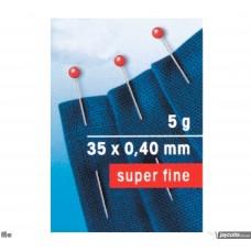 Glaskopspelden Fijn 35 x 0,40 mm