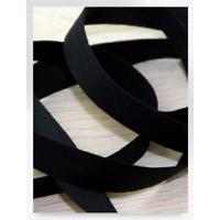 Smal Katoenband 10mm Zwart