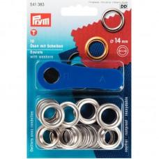 Ringen en Schijven 14 mm Zilverkleurig