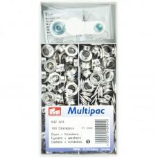 Ringen en Schijven 11 mm Zilverkleurig Multipack