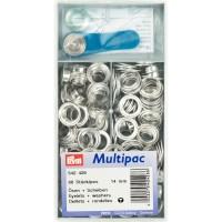 Ringen en Schijven 14 mm Zilverkleurig Multipack