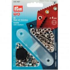 Ringen en Schijven 4 mm Zilverkleurig