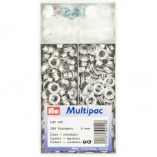 Ringen en Schijven 8 mm Zilverkleurig Multipack