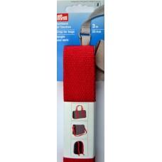 Tassenband Katoen Rood - Keperkatoen