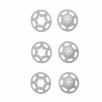 Drukknopen Transparant 10mm vernaaibaar