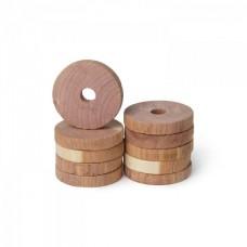 Cederhout ringen - Voor kledinghangers