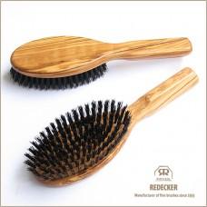 Haarborstel olijfhout voor dunner haar