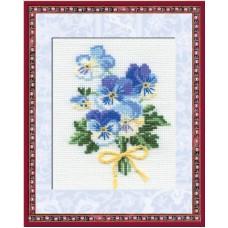 Goedkoop borduurpakket met telpatroon - Boeketje bloemen