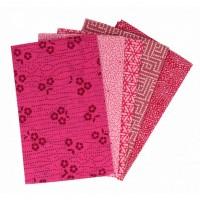 5 lapjes stof Roze