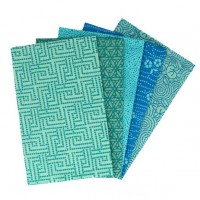 5 lapjes stof Blauw