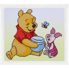 Diamond Painting kit Disney Pooh en Knorretje