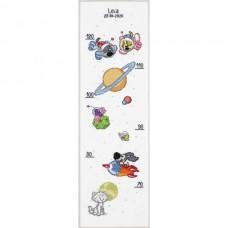 Borduurpakket Groeimeter: Woezel & Pip