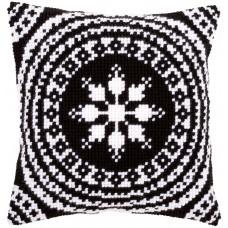 AANBIEDING Vervaco Borduurpakket - Kussenpakket Zwart-Wit