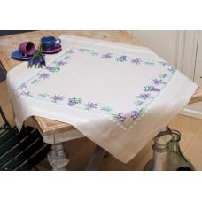 Borduurpakket Tafelkleedje Lavendel - 80x80cm