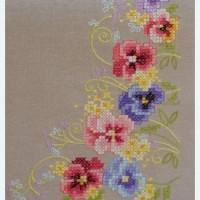 Borduurpakket Tafelkleedje Viooltjes - 80x80cm