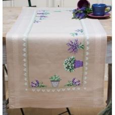 Borduurpakket Loper Lavendel - 40x100cm